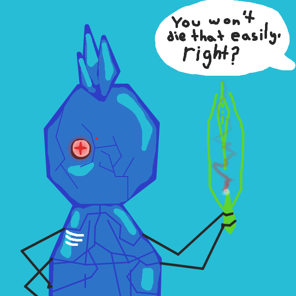 First panel in Journey of Beetle PT#4 drawn in our free online drawing game