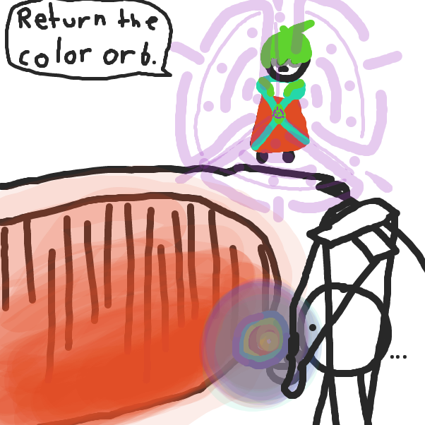Return the color orb. - Online Drawing Game Comic Strip Panel by ItzAki