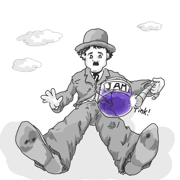 Drawing in Chaplin by WizardCroissant