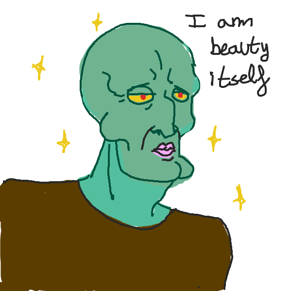 He's beauty itself - Online Drawing Game Comic Strip Panel by Indigonotblue