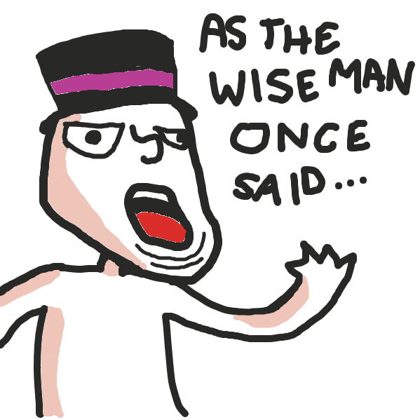 Drawing in Wise Man by Plutomics
