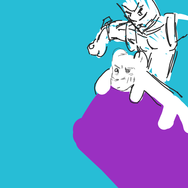 Drawing in Menacing by sircirno