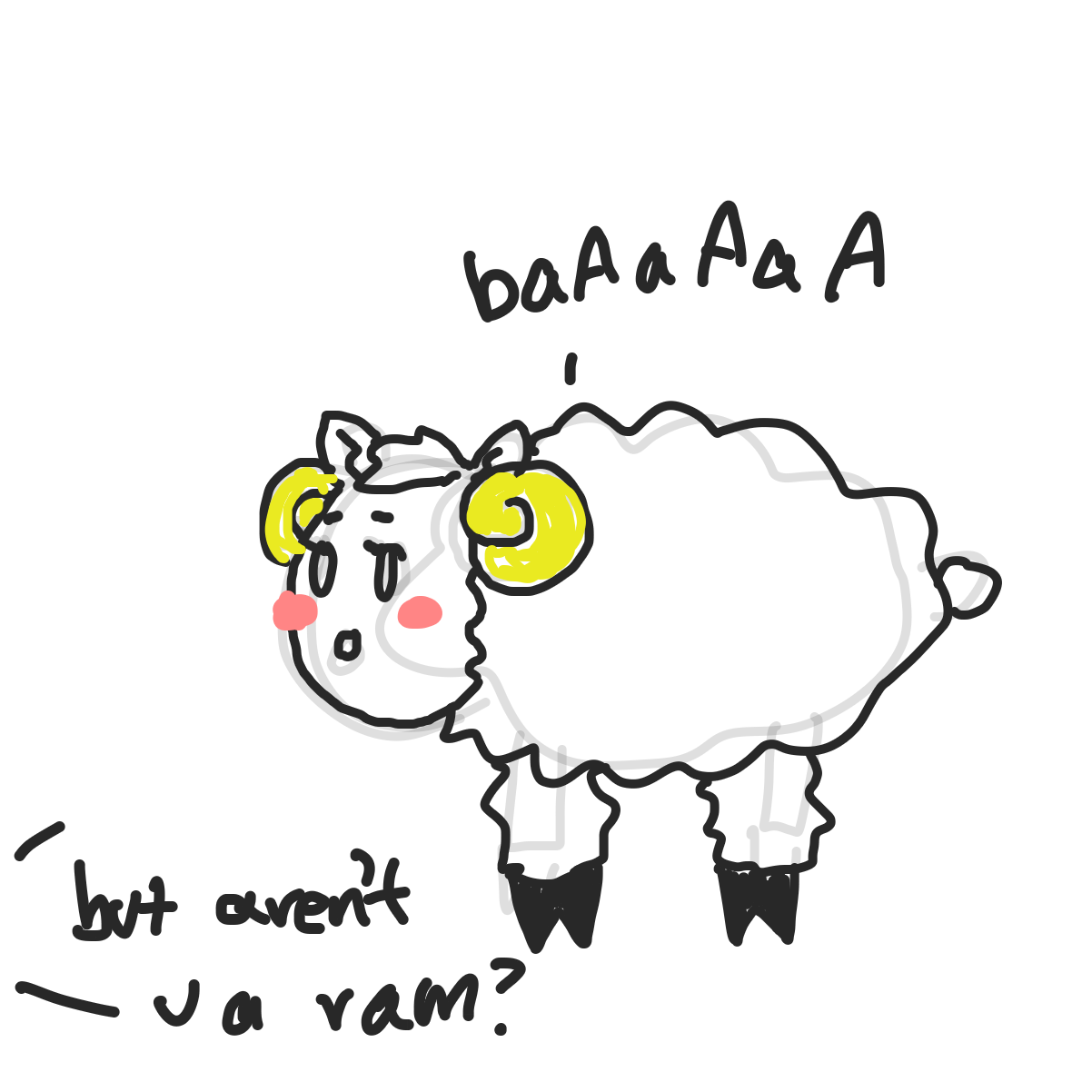 First panel in sheepy drawn in our free online drawing game