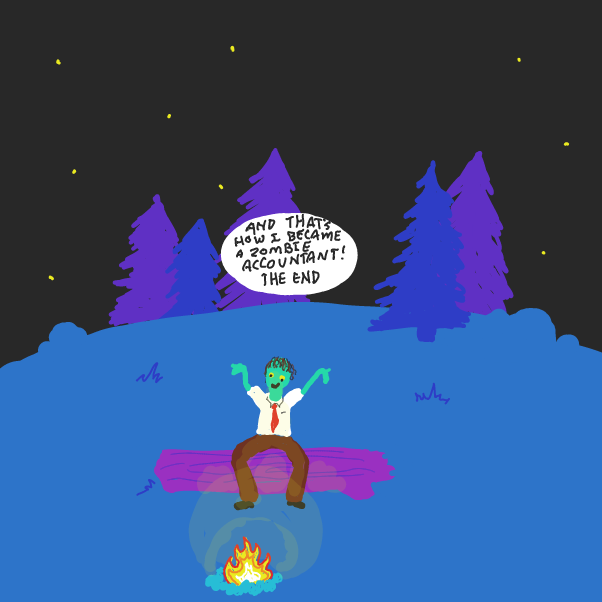 Drawing in Fun Camping Tale by WizardCroissant