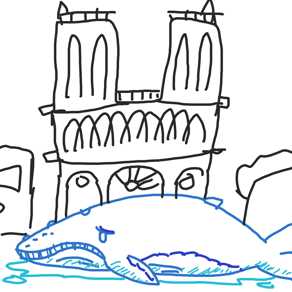 Drawing in The Humpback of Notre Dame by bajira