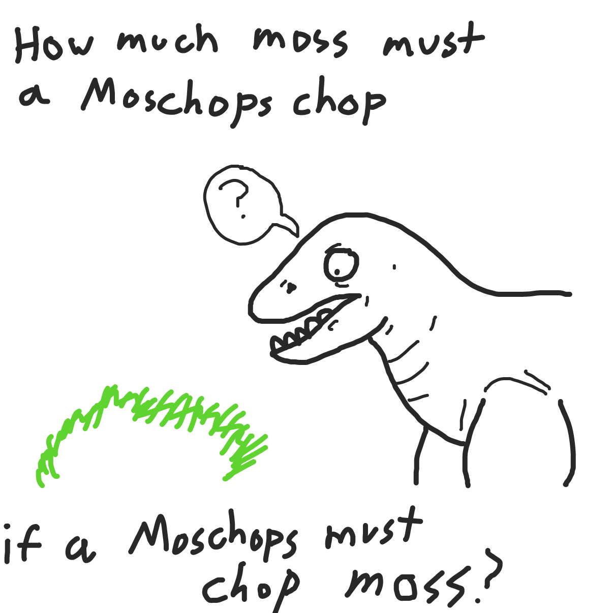 Drawing in how much moss must a moschops chop  by bajira
