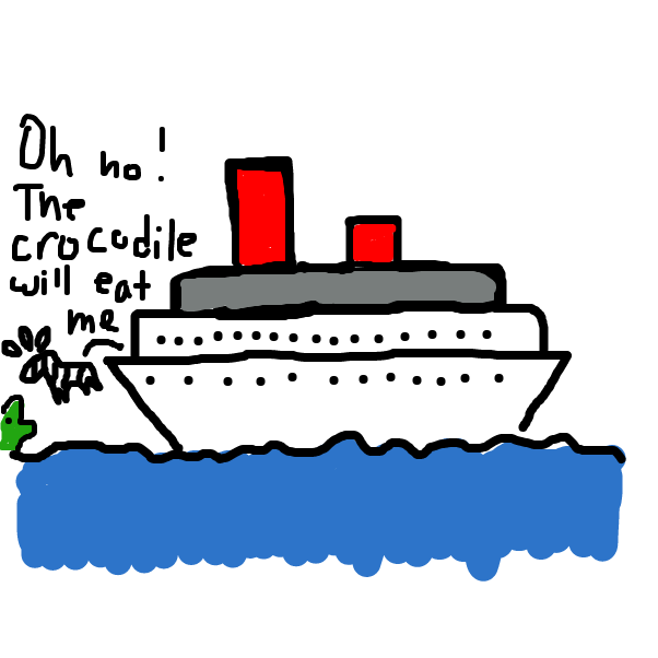 Drawing in Zebra cruise by SteliosPapas