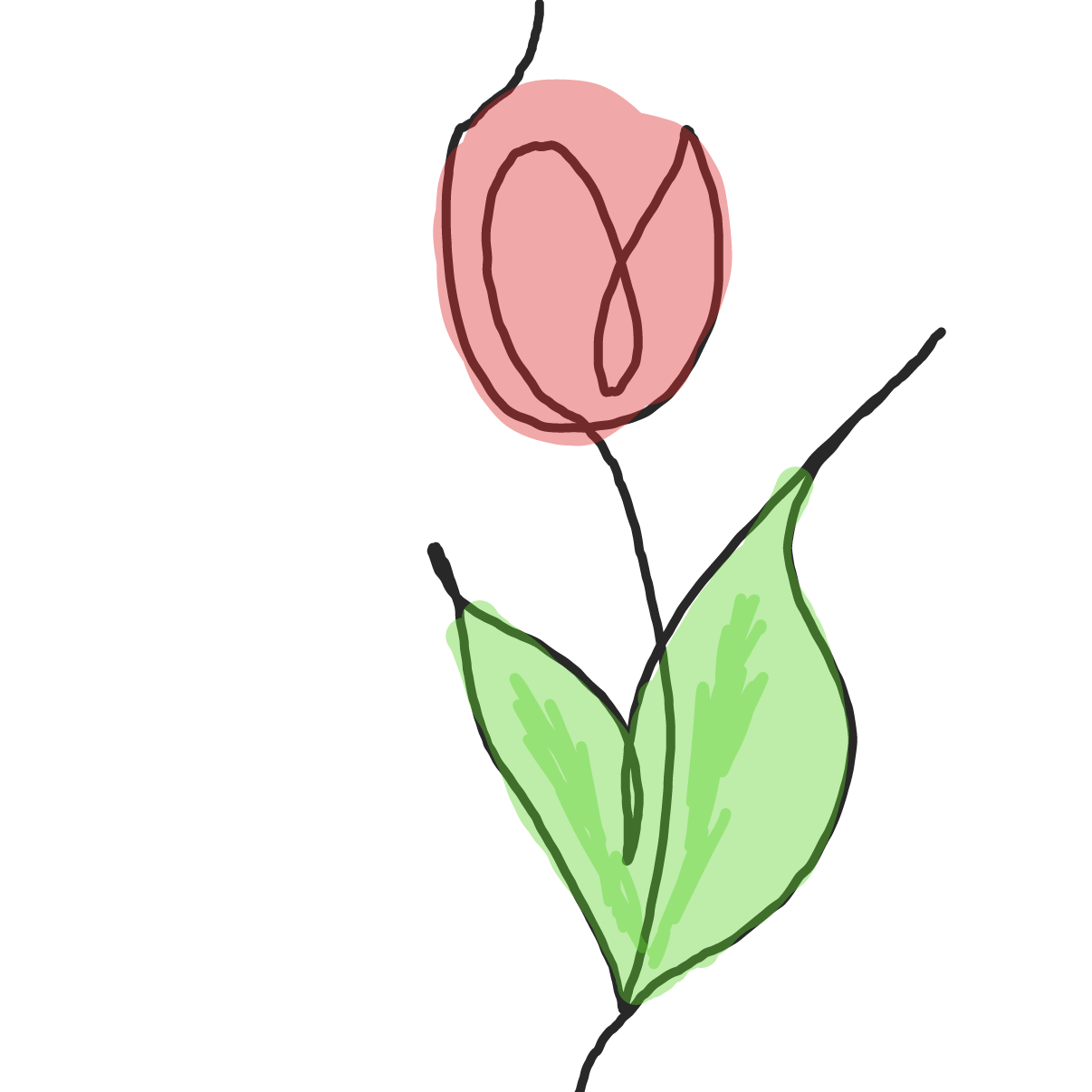 flower in one line! - Online Drawing Game Comic Strip Panel by Moon-Lover
