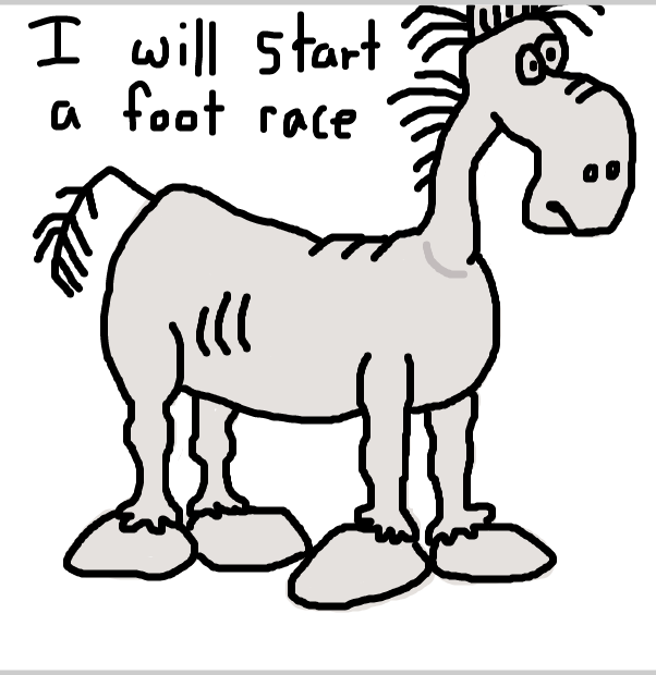 Drawing in Harold Horse by SteliosPapas