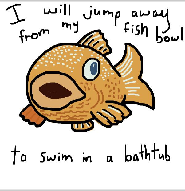 Drawing in George Goldfish by SteliosPapas