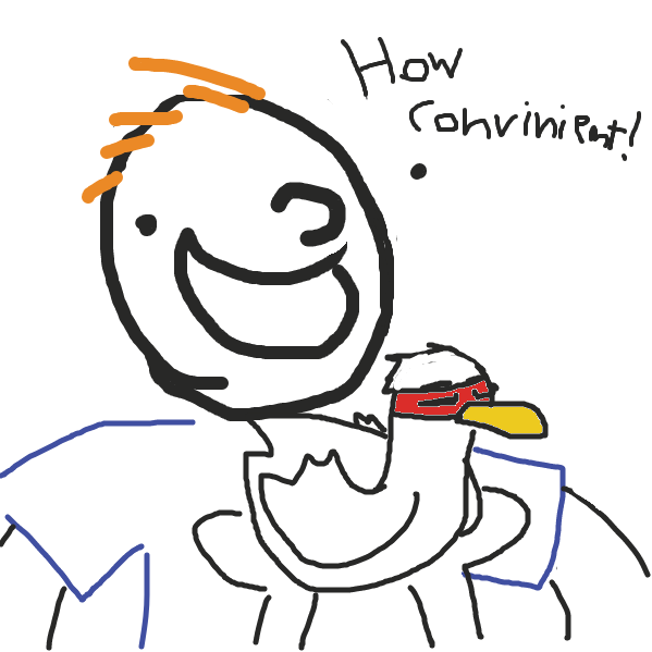 Instead of questioning the morality of eating food from an animal similar to a friends pet, He was just relieved to find ingredients so readily available. the chicken is actually a teenage mutant ninja chicken. - Online Drawing Game Comic Strip Panel by Rad_Attraction