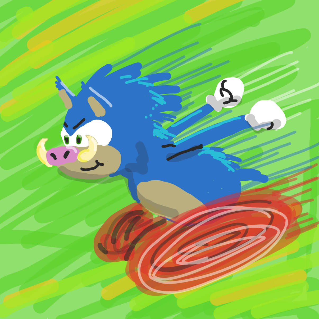 Drawing in Sonic the Warthog by bajira