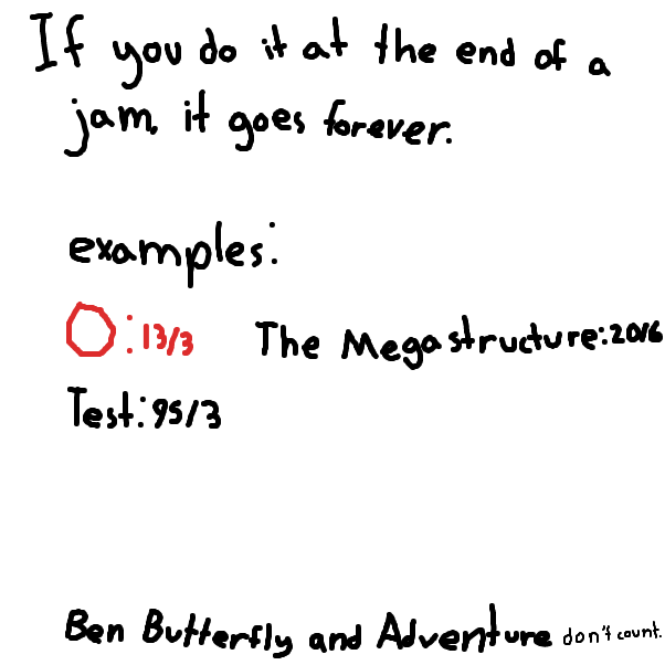 Ben Butterfly and Adventure don't count because they don't have doubles until the infinity point. - Online Drawing Game Comic Strip Panel by KinohASCENDED