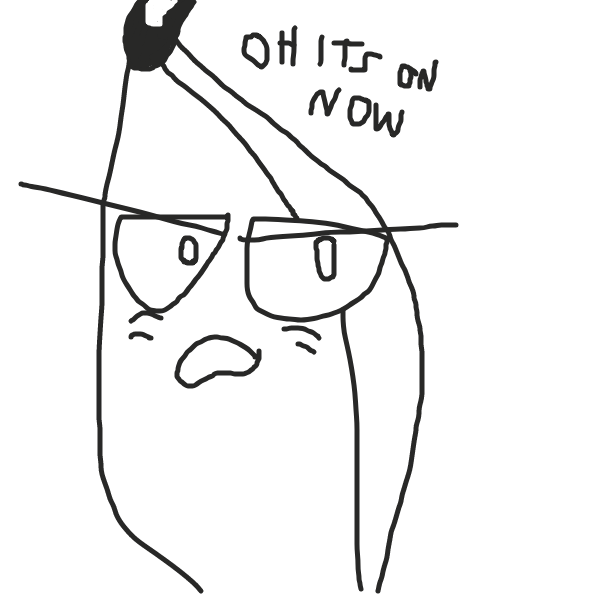 Banana aint having this - Online Drawing Game Comic Strip Panel by TophatGeo
