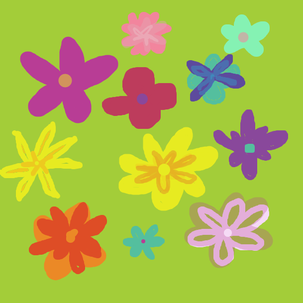 some springy flowers - Online Drawing Game Comic Strip Panel by mimi