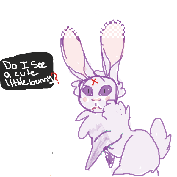 we've got to keep tis bunny save. - Online Drawing Game Comic Strip Panel by Tavi