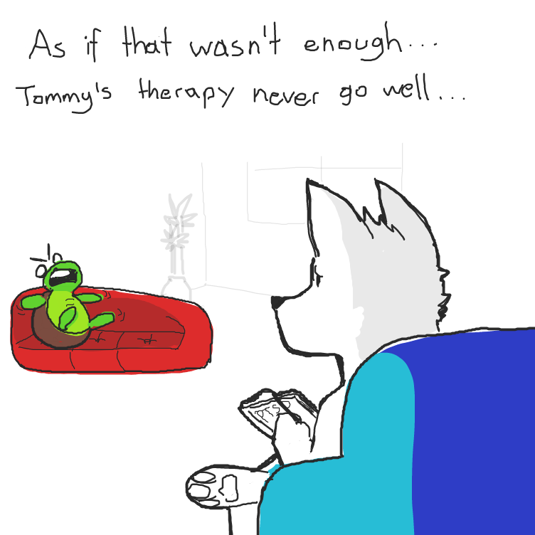 Don't you think it would be funny if tommy got shot again? haha - Online Drawing Game Comic Strip Panel by SluggishFella