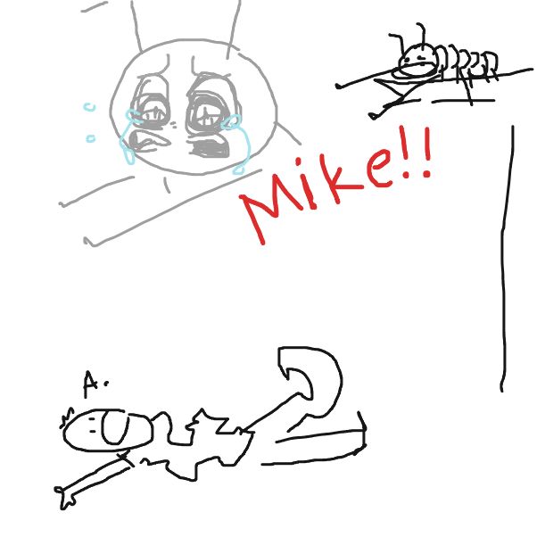 He broke everything except for his penis that day - Online Drawing Game Comic Strip Panel by Hyenapup
