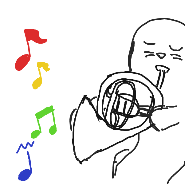 Drawing in Steven Seal plays the Tuba by facelessdrawings