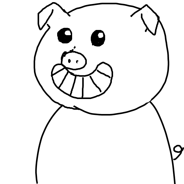Drawing in Pascal Pig by facelessdrawings
