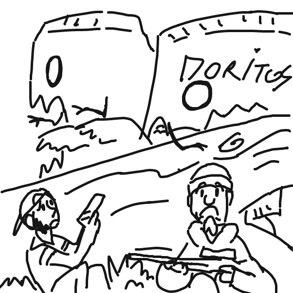 First panel in Hunt for some snacks drawn in our free online drawing game