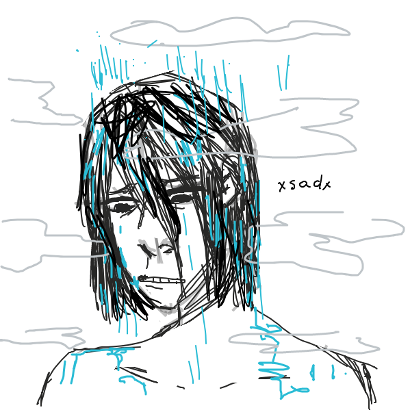 Thinking about his future while showering - Online Drawing Game Comic Strip Panel by Crayonz