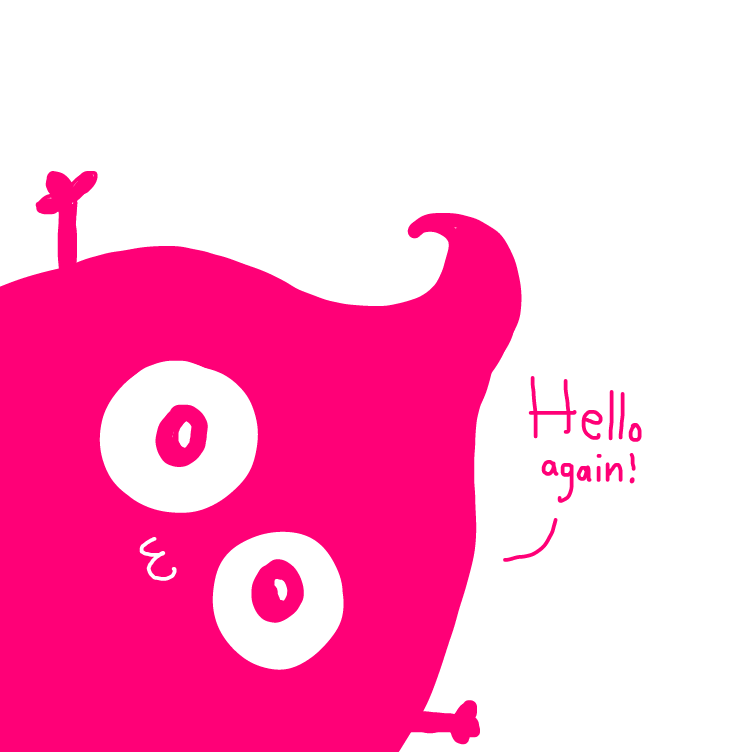 First panel in pink poo drawn in our free online drawing game