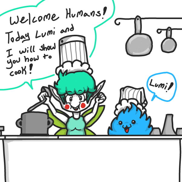 Drawing in Cooking With Farie and Lumi by xavvypls