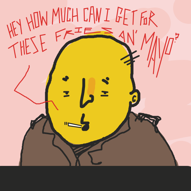 First panel in Fries & Mayo drawn in our free online drawing game