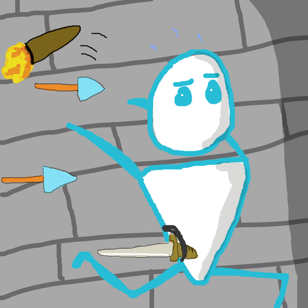 Drawing in Dungeon Diver by Calum