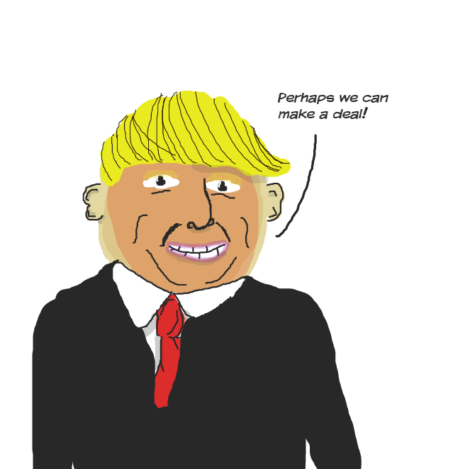 Drawing in fuk da trump by Calum