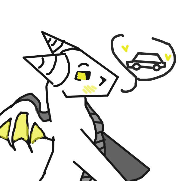 Drawing in Dragon x Car by LizardPie34