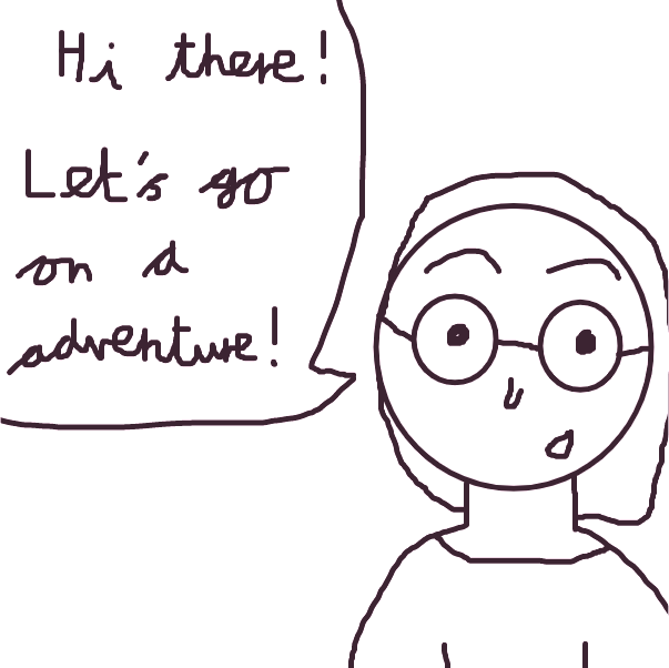 First panel in The Adventures of Pudsey drawn in our free online drawing game
