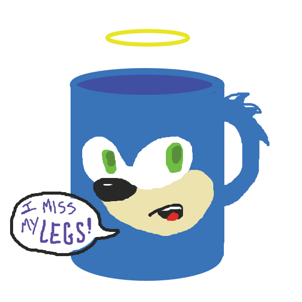 Sonicu's been turned into a mug! oh my! :O - Online Drawing Game Comic Strip Panel by jamdaddy