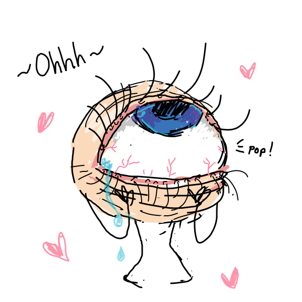 eye pops into eyelids ;^) - Online Drawing Game Comic Strip Panel by daisy key chain