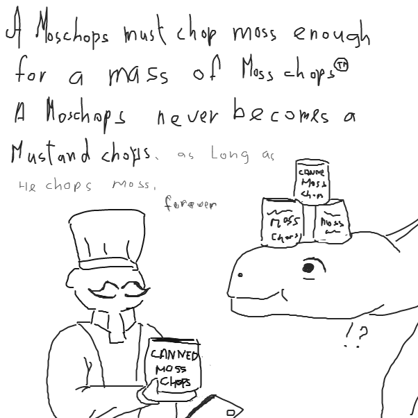 Drawing in how much moss must a moschops chop  by Robro