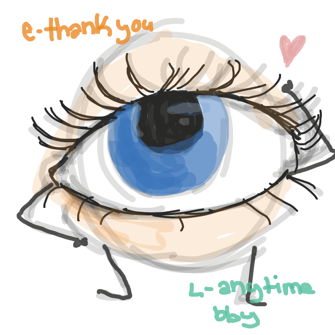 E-eyelid L-lid - Online Drawing Game Comic Strip Panel by Saltedice