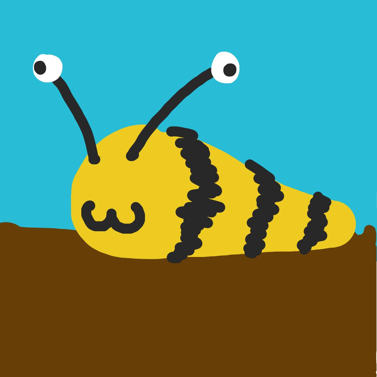 Drawing in Benny the Bumble slug by bajira