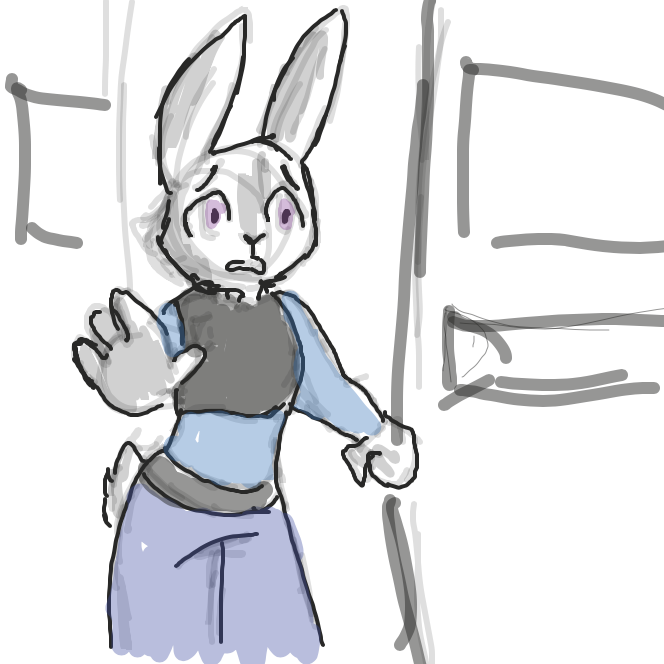 Drawing in Judy's Bad Day by Saltedice