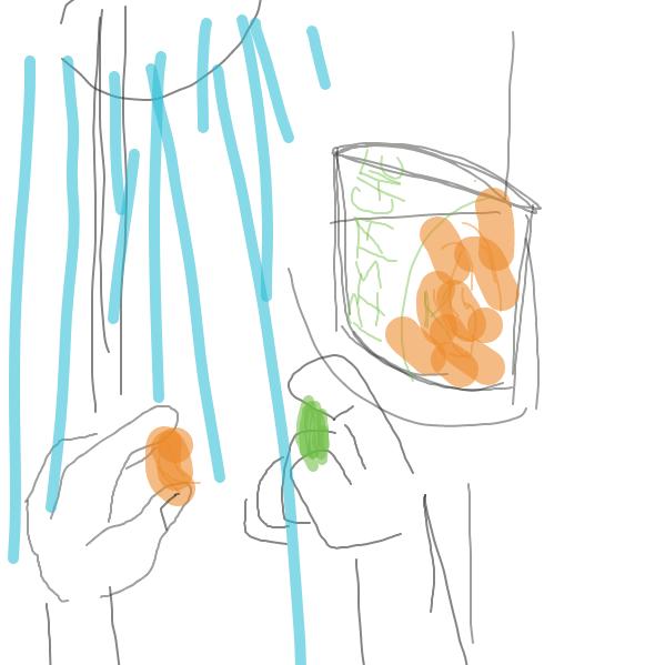 Drawing in showerin by Zacharieribbit