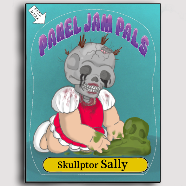 Drawing in Panel Jam Trading Cards by xavvypls