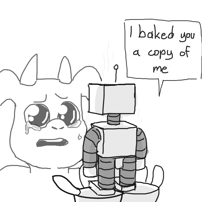 Drawing in How to Bake A Robot by SluggishFella