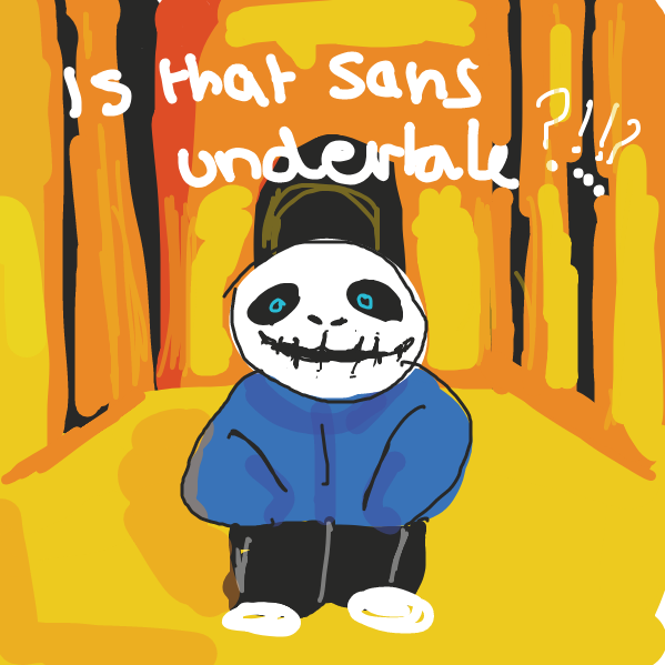 did this from memory, remembered that meme where its a picture of komaeda nagito edited to look like sans. i h8 undertal - Online Drawing Game Comic Strip Panel by Mojomos