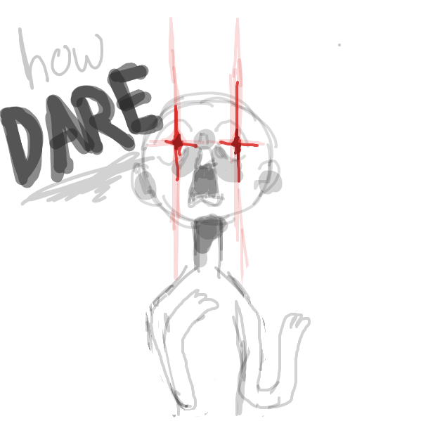 Drawing in how dare by aniesque