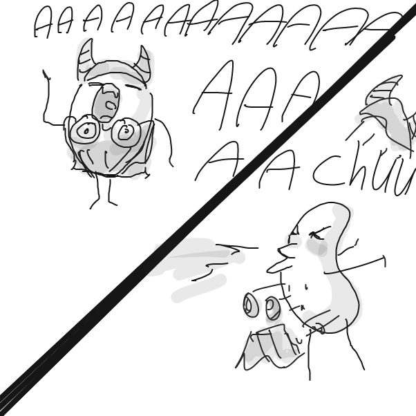 Drawing in Sneeze by Robro