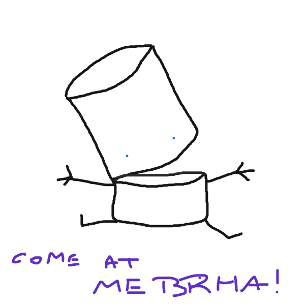 Fitbot Prime is not afraid of anything - Online Drawing Game Comic Strip Panel by nogajam