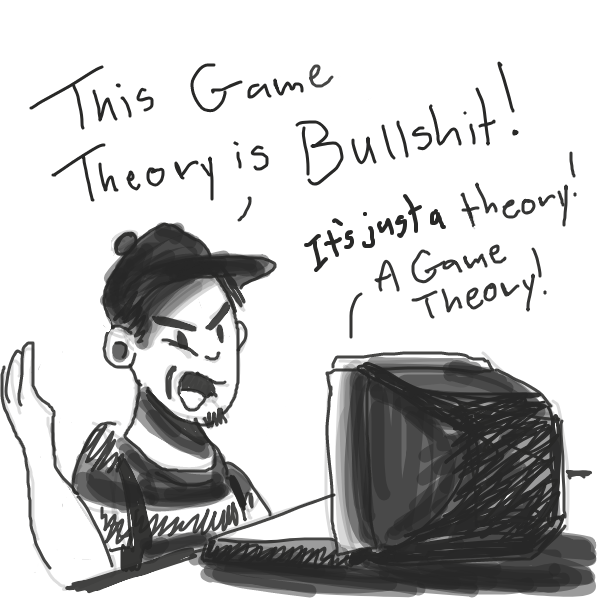 Gamer still thinks the game theory of Sans being Ness is bullcrap, even with the naked reveal.  - Online Drawing Game Comic Strip Panel by Loco-L