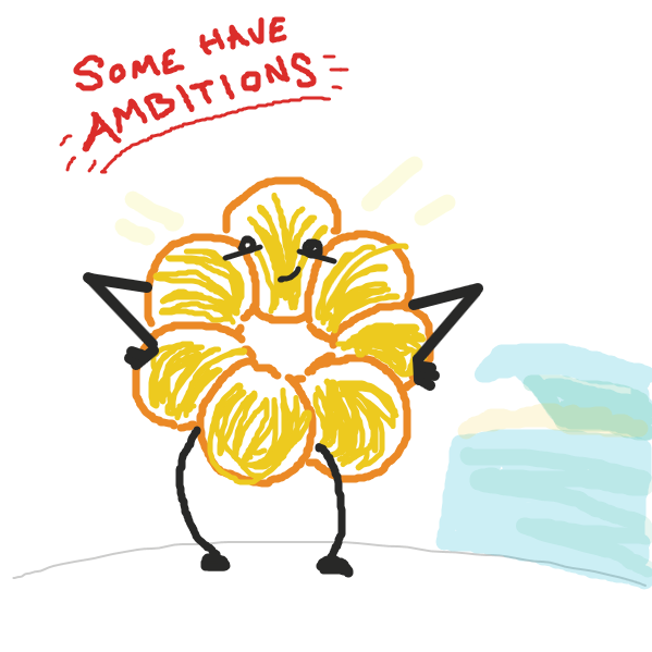 The donut's got ambitions, but do they always work out? - Online Drawing Game Comic Strip Panel by jamdaddy