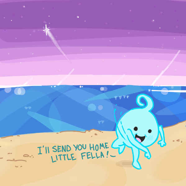 wanted to try something dif . . . cute blue thing btw - Online Drawing Game Comic Strip Panel by Sho-bo