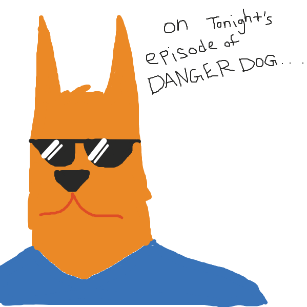 First panel in Danger Dog: Episode 2 drawn in our free online drawing game